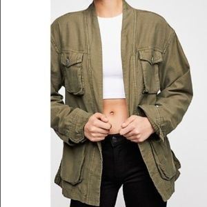 Free People In Our Nature Military Cargo Jacket
